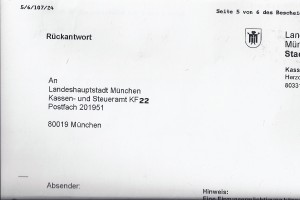 Tautologie-Rückantwort-Stadt-München