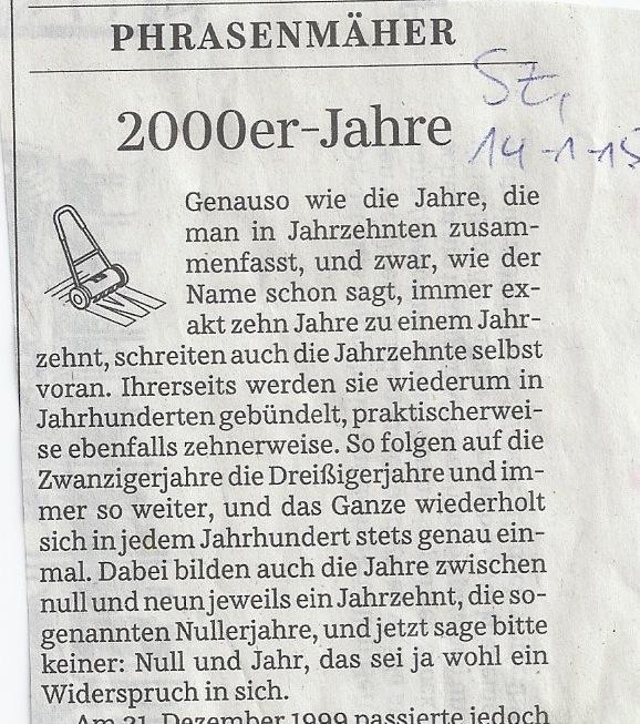 """""""Historiografische Autoimmunreaktion"""" – Glosse in der SZ (Ausschnitt)"""
