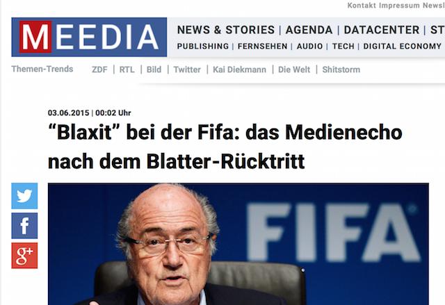 Blaxit ist, wenn Sepp Blatter zurücktritt. Und ein Muster für einen Trend.