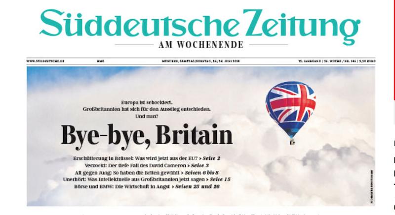 Schlagzeile Bye Britain: Brav und satt