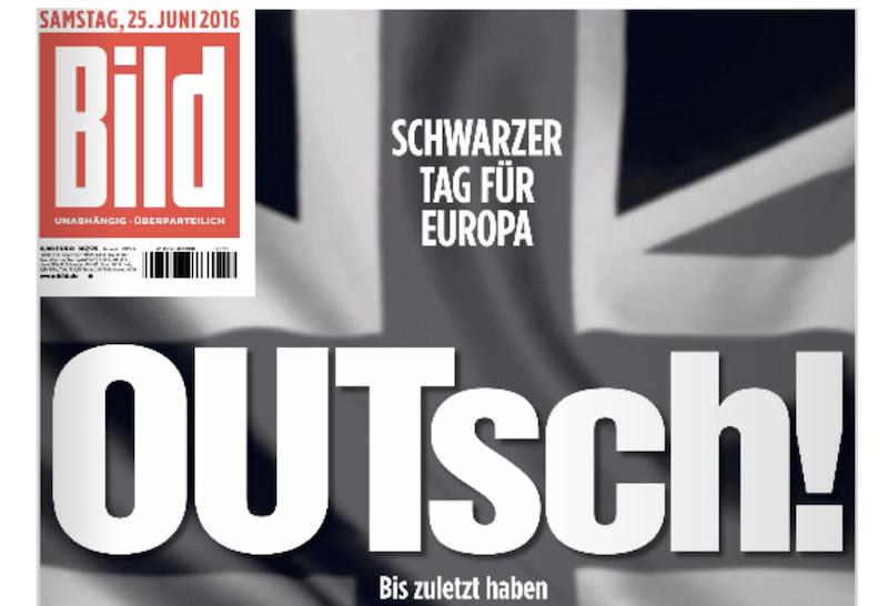 Schlagzeile OUTsch (Screenshot): Nachricht plus Wertung in einem Wort