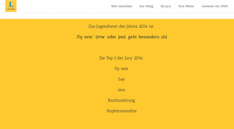 Langenscheidt-Jugendwort-fly-sein