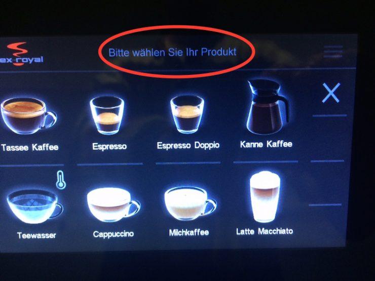 Kaffeemaschine-Menu-betexten