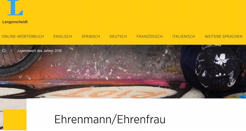 Ehrenmann ist Jugendwort des Jahres 2018