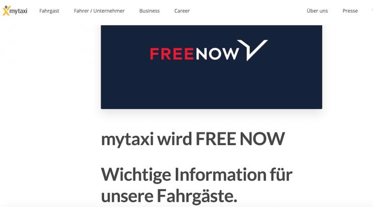 Free now ist eine schlechtere Idee als mytaxi
