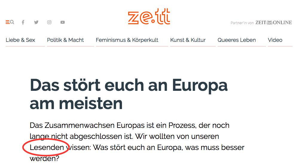 Lesende ist Deutsch für Analphabeten